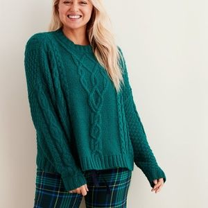 Aerie cable knit sweater, xs